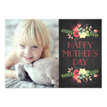 Flowers in Bloom | Chalkboard Mother's Day Card