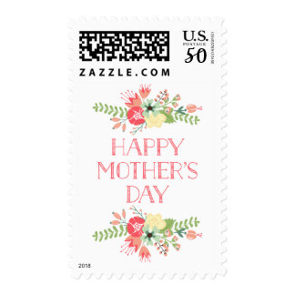 Flowers in Bloom | Happy Mother's Day Stamp