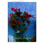 Flowers in Bloom in Madison, Indiana Greeting Card