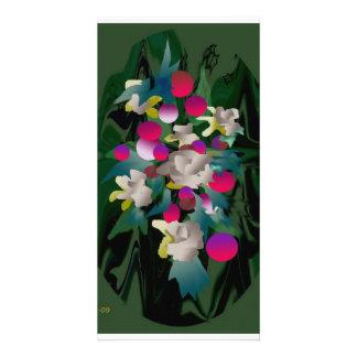 flowers in bloom photo card