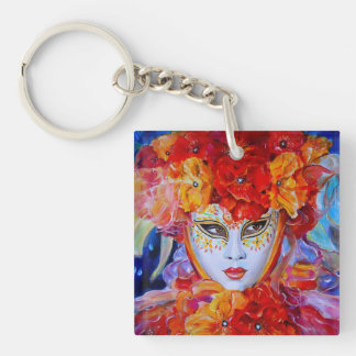 Flowers in Bloom Single-Sided Square Acrylic Keychain