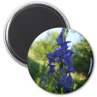 Flowers In Blue 2 Inch Round Magnet