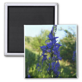 Flowers In Blue 2 Inch Square Magnet