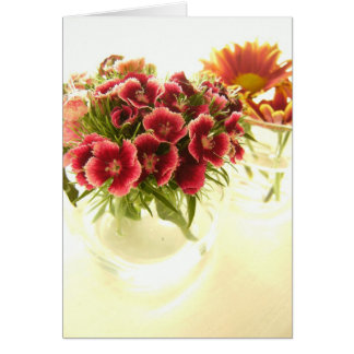 Flowers In Cafe Card