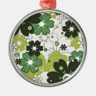 flowers in clover metal ornament
