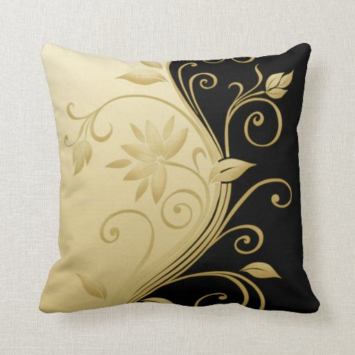 Flowers in Contrast 3 Throw Pillow
