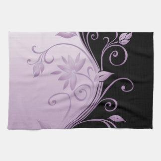 Flowers in Contrast 6 Towels