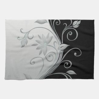 Flowers in Contrast Hand Towel