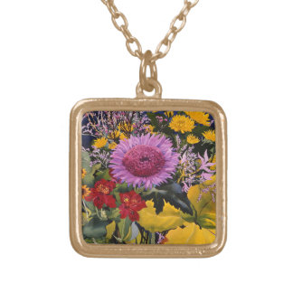 Flowers in December 2005 Gold Plated Necklace
