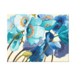 Flowers in Different Shades of Purple and Blue Stretched Canvas Prints