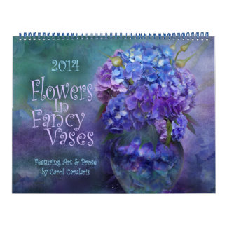 Flowers In Fancy Vases Art Calendar 2014