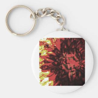 Flowers in Fire 2 Basic Round Button Keychain