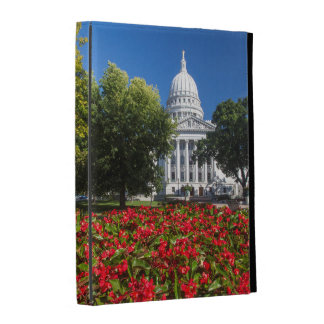Flowers In Front Of State Capitol Building iPad Folio Covers