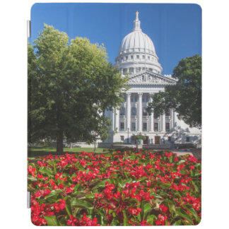 Flowers In Front Of State Capitol Building iPad Smart Cover