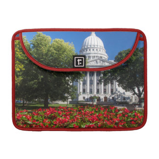 Flowers In Front Of State Capitol Building Sleeve For MacBook Pro