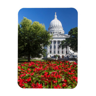 Flowers In Front Of State Capitol Building Magnet