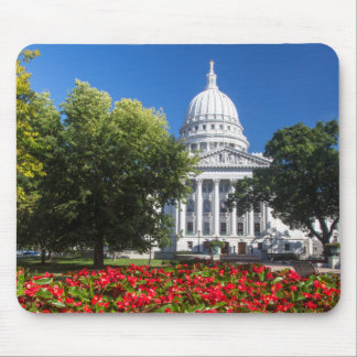 Flowers In Front Of State Capitol Building Mouse Pad
