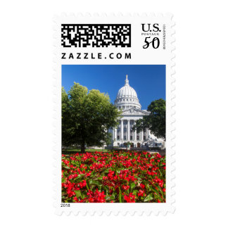 Flowers In Front Of State Capitol Building Postage
