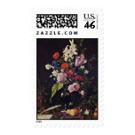 Flowers In Glass Vase Crucifix And A Skull By Heem Postage Stamps