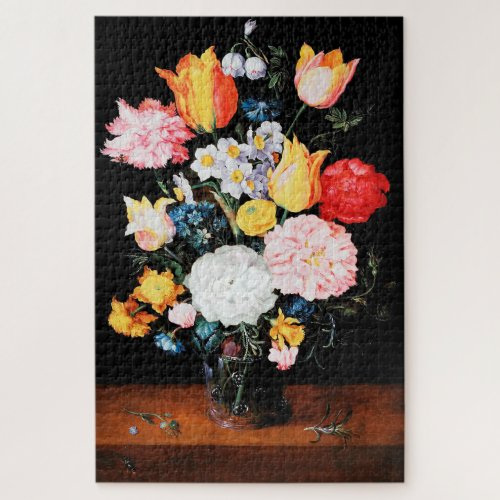 Flowers in Glass Vessel Jan Brueghel the Younger Jigsaw Puzzle