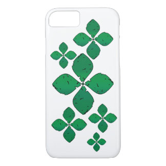 Flowers in green iPhone 7 case