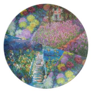 Flowers in Monet's garden are unique Melamine Plate