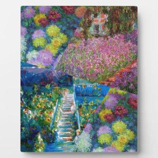 Flowers in Monet's garden are unique Plaque