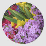 Flowers in Multiple Colors Classic Round Sticker