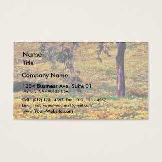 Flowers In Park Business Card