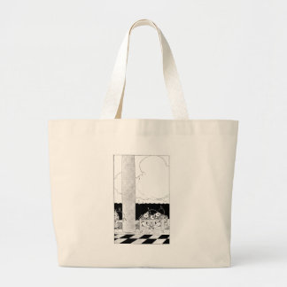 Flowers in Planter by the Sea Large Tote Bag