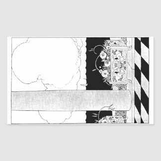 Flowers in Planter by the Sea Rectangular Sticker