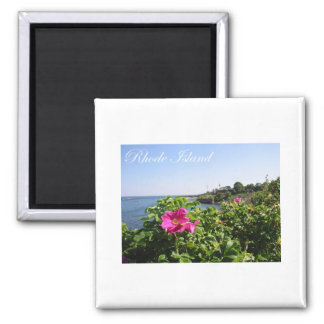 Flowers in Rhode Island 2 Inch Square Magnet