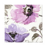 Flowers in Shades of Purple Canvas Print