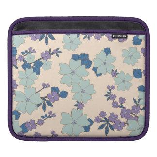 flowers in shape of clovers iPad sleeves
