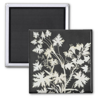 Flowers in Silhouette 2 Inch Square Magnet