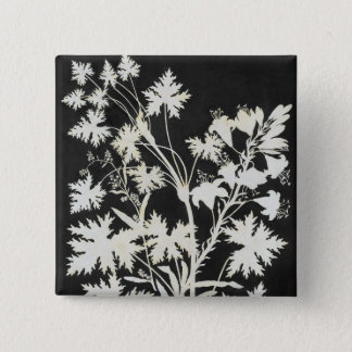 Flowers in Silhouette Pinback Button