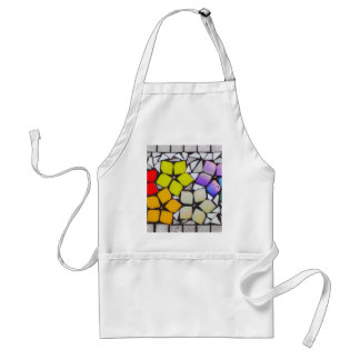 Flowers in Silver - A Mosaic Inspired Collection Adult Apron