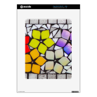 Flowers in Silver - A Mosaic Inspired Collection Skin For iPad