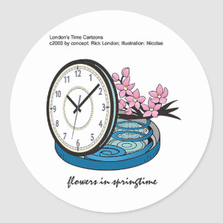 Flowers In Springtime Silly Funny Gifts & Tees Classic Round Sticker