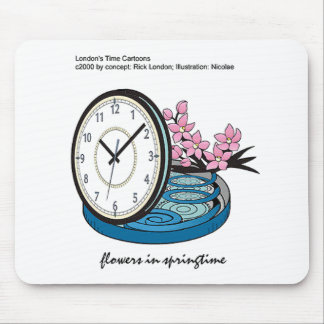 Flowers In Springtime Silly Funny Gifts & Tees Mouse Pad