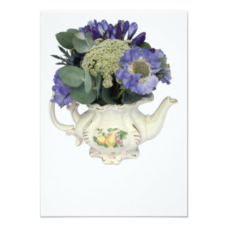 Flowers in teapot card