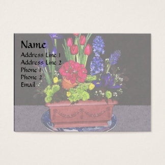 Flowers in Terra Cotta Business Card