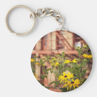 Flowers in the City Keychains