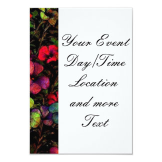 Flowers in the Dark (I) 3.5x5 Paper Invitation Card