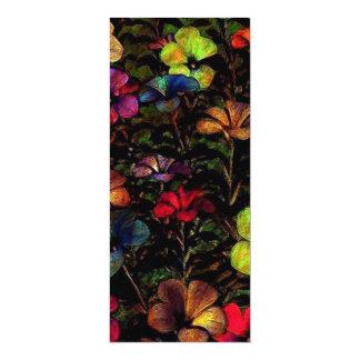Flowers in the Dark (I) 4x9.25 Paper Invitation Card