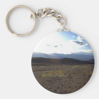 Flowers in the Death Valley Basic Round Button Keychain