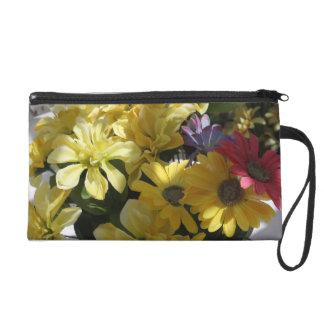 Flowers In The Garden Wristlet Purse