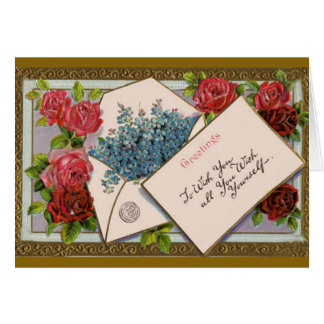 Flowers in the Mail - Birthday Card