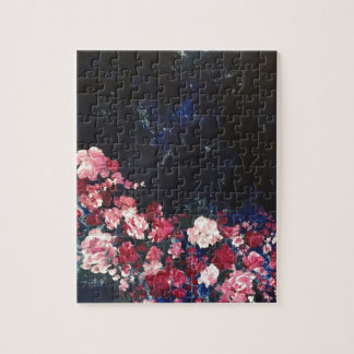 Flowers in the Night Sky Jigsaw Puzzle