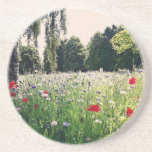 Flowers in the park drink coaster